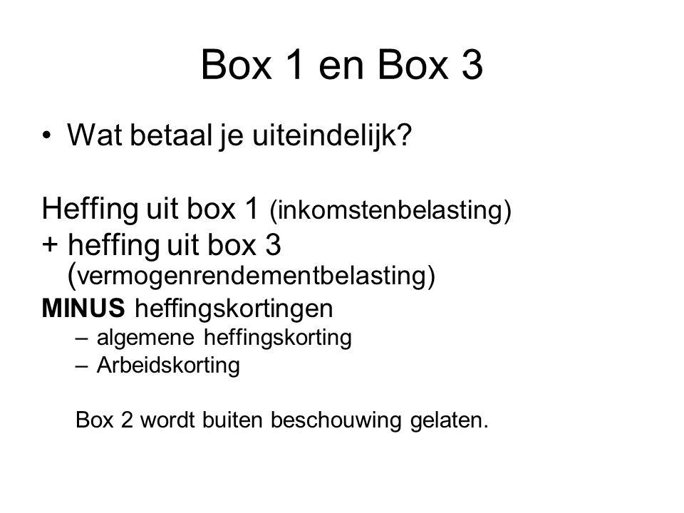 Box 1 en Box 3 Wat betaal je uiteindelijk.