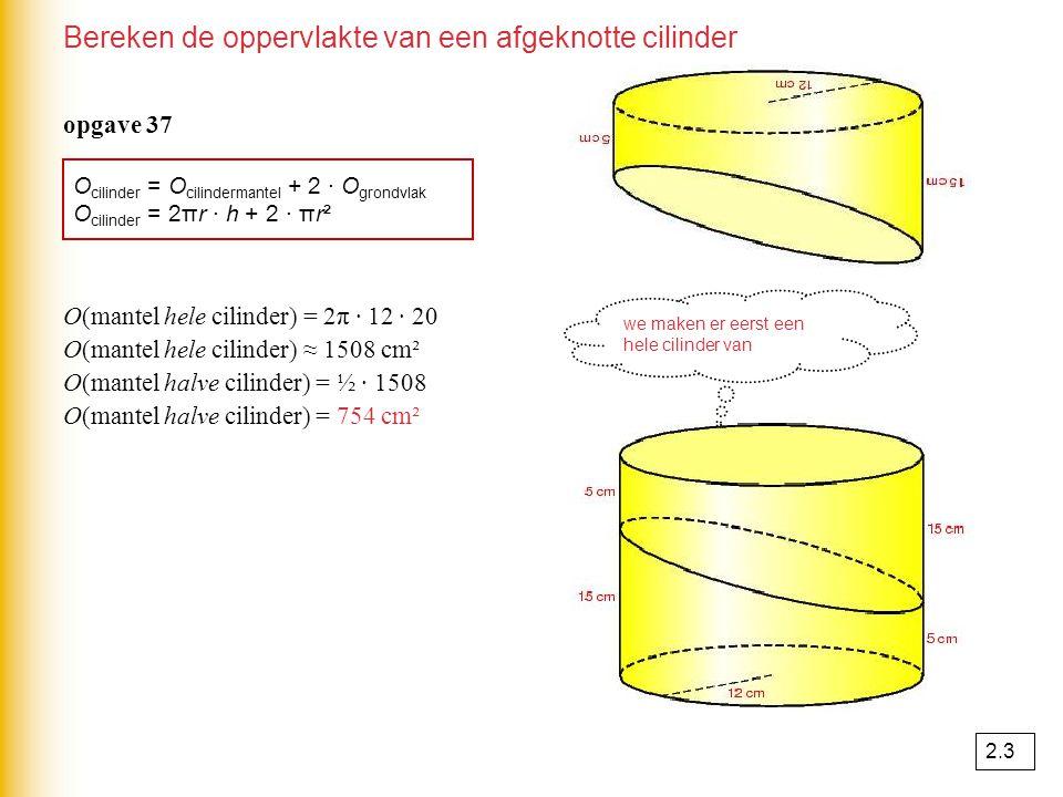 Bol O(bol) = 4πr² ● r 2.3