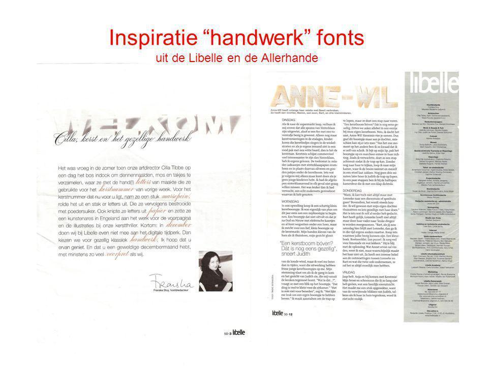 Inspiratie handwerk fonts uit de Libelle en de Allerhande
