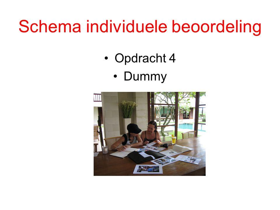 Schema individuele beoordeling Opdracht 4 Dummy