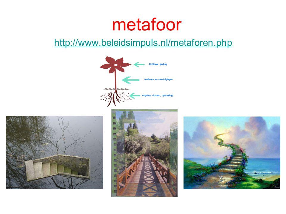 metafoor http://www.beleidsimpuls.nl/metaforen.php