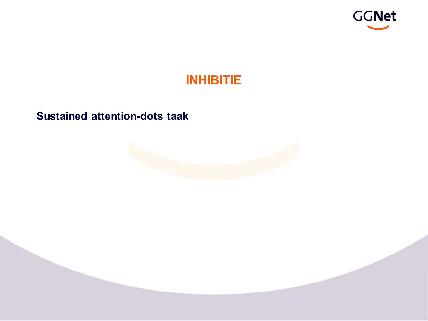 INHIBITIE Sustained attention-dots taak