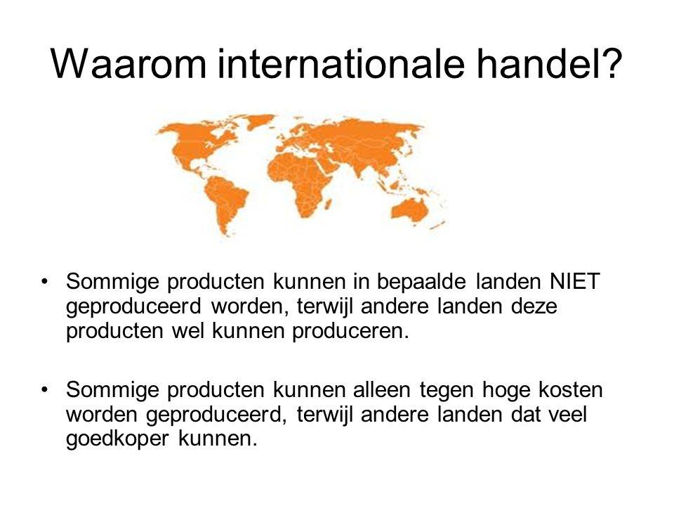 Waarom internationale handel.