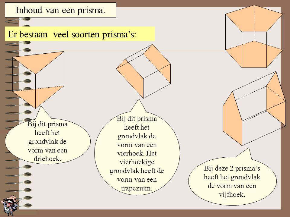 Inhoud van een prisma.