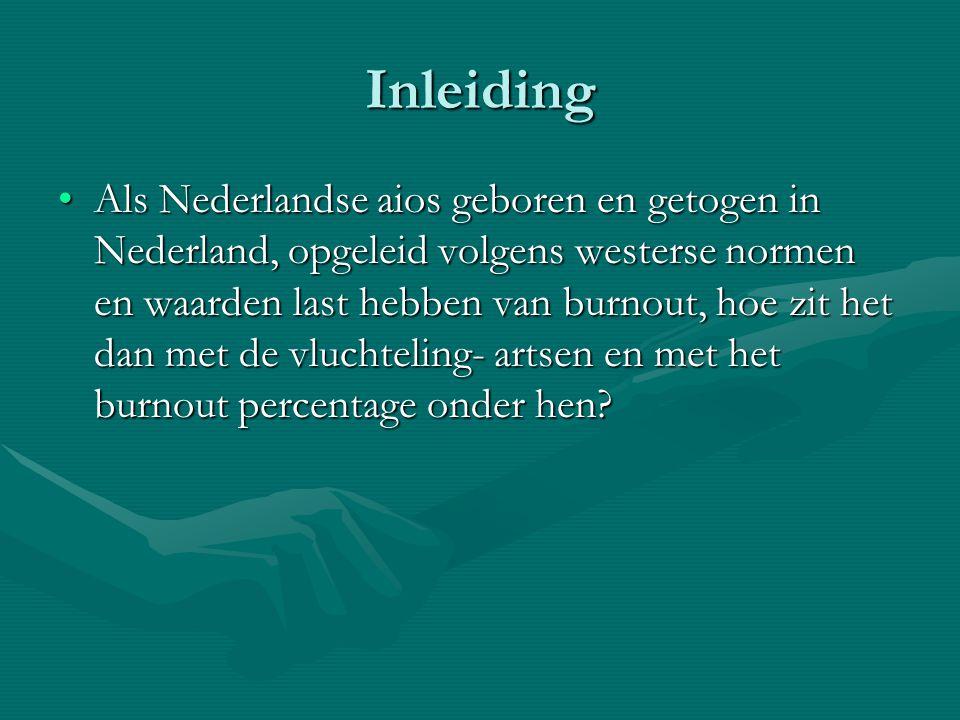 Inleiding Als Nederlandse aios geboren en getogen in Nederland, opgeleid volgens westerse normen en waarden last hebben van burnout, hoe zit het dan m