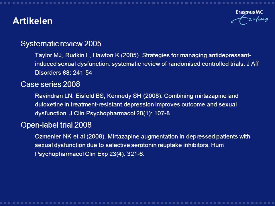 Systematic review 15 trials, 904 patiënten, allen placebo-gecontroleerd, diverse addities  Bupropion vs.