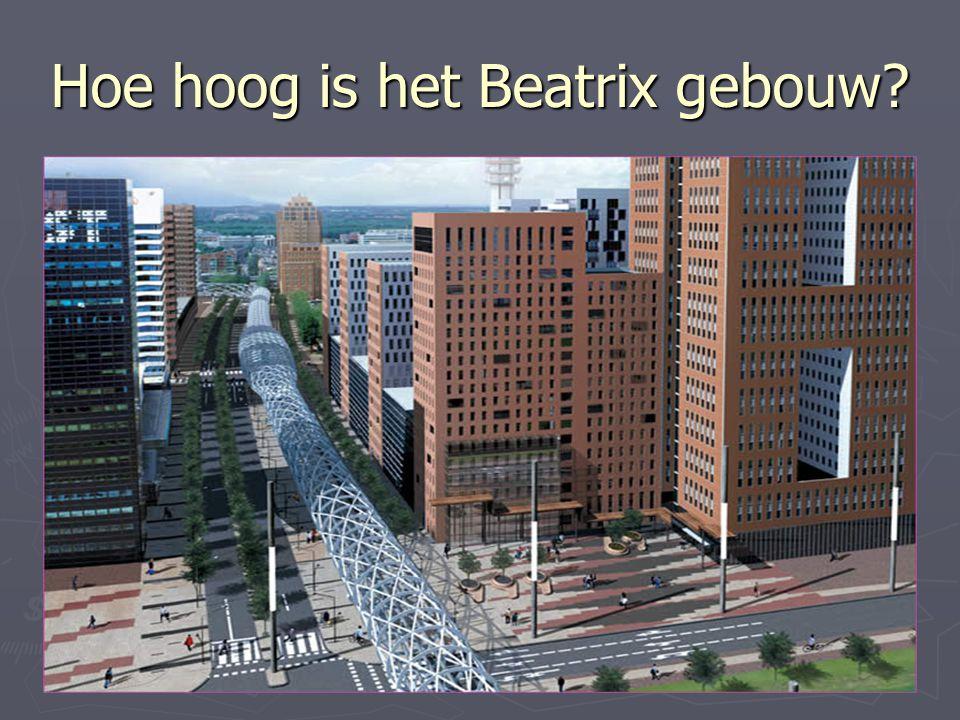 Hoe hoog is het Beatrix gebouw?