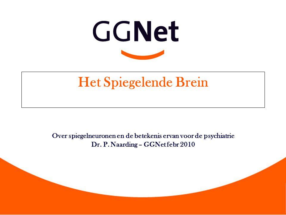 Het Spiegelende Brein Over spiegelneuronen en de betekenis ervan voor de psychiatrie Dr. P. Naarding – GGNet febr 2010