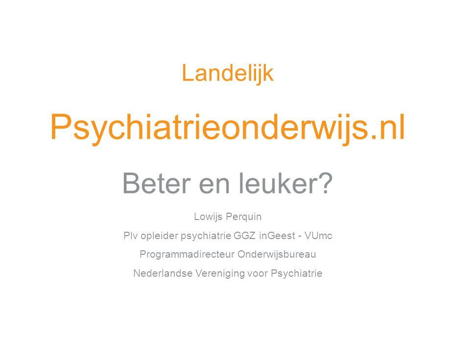 Basisprincipe Onderdelen Literatuur Lessen Toetsing psychiatrie onderwijs.nl Onderwerpen