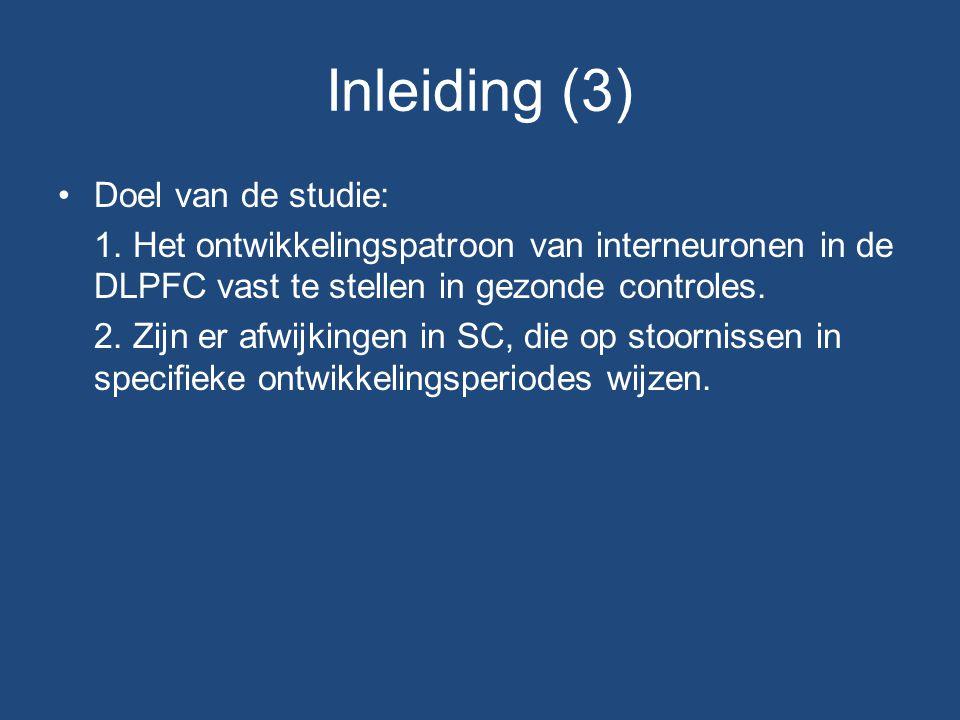 Inleiding (3) Doel van de studie: 1.