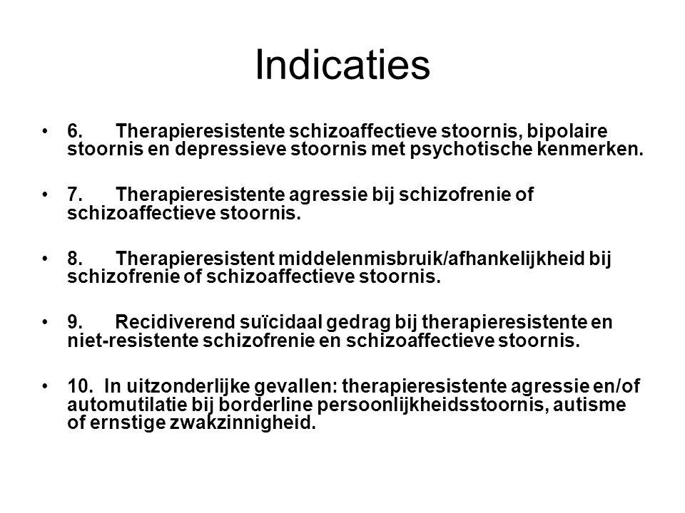 registratie 1.Therapieresistente positieve en negatieve symptomen bij schizofrenie 3.