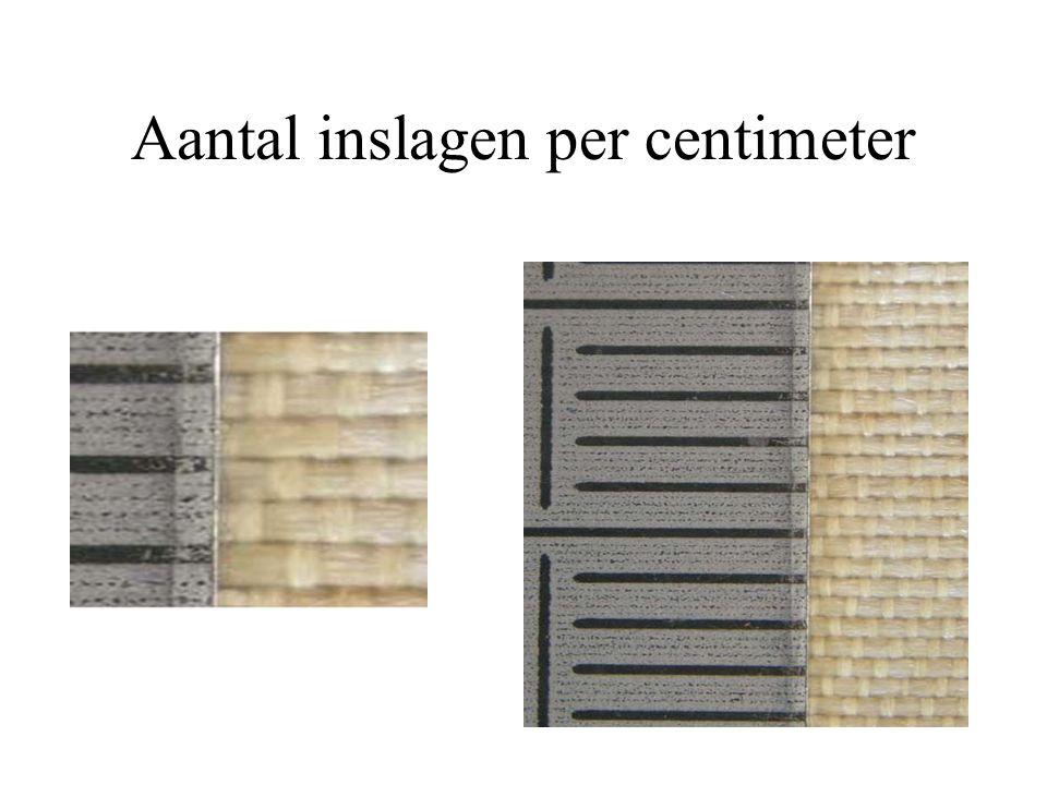 Aantal inslagen per centimeter