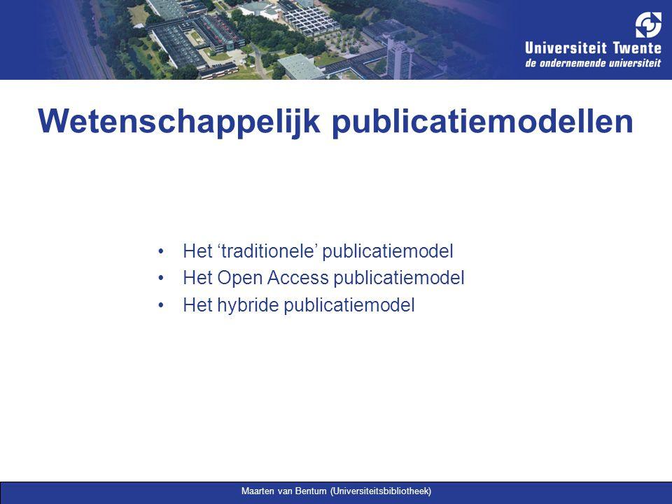 Maarten van Bentum (Universiteitsbibliotheek) Het hybride publicatiemodel Parallel publiceren Tegelijkertijd via uitgevers publicatiekanaal en online self- publishing Voorwaarden (parallel) publiceren van uitgevers: www.sherpa.ac.uk/romeo.php www.sherpa.ac.uk/romeo.php Licence to publish: http://www.surf.nl/copyrighttoolbox/authors/licence http://www.surf.nl/copyrighttoolbox/authors/licence Auteursrecht in het hoger onderwijs: www.surf.nl/auteursrechtwww.surf.nl/auteursrecht
