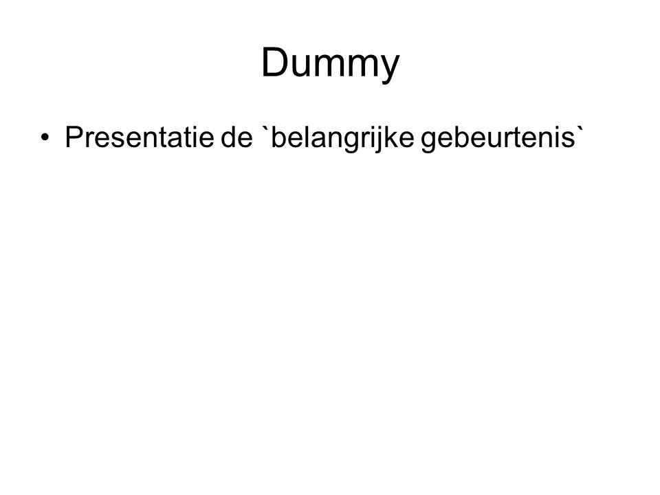 Dummy Presentatie de `belangrijke gebeurtenis`