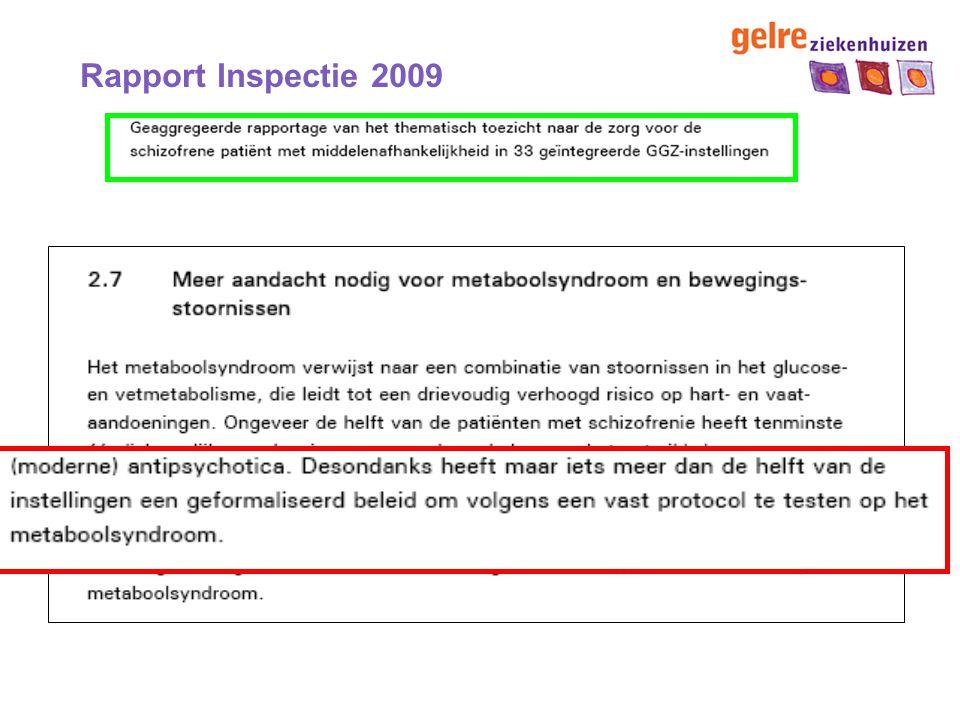 Criteria metabool syndroom Circulation 2009 * Ten minste drie criteria aanwezig.