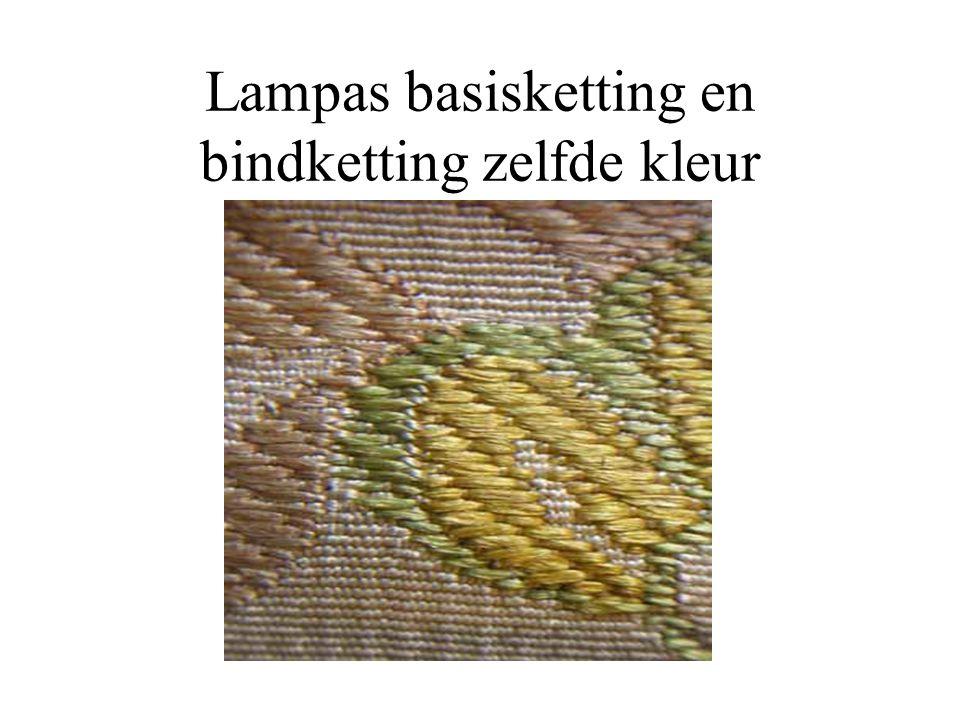 Lampas basisketting en bindketting zelfde kleur