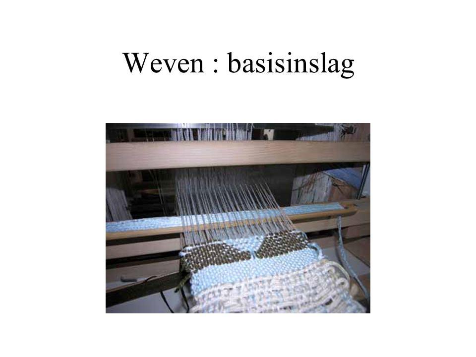Weven : basisinslag