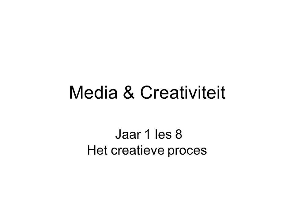 Media & Creativiteit Jaar 1 les 8 Het creatieve proces