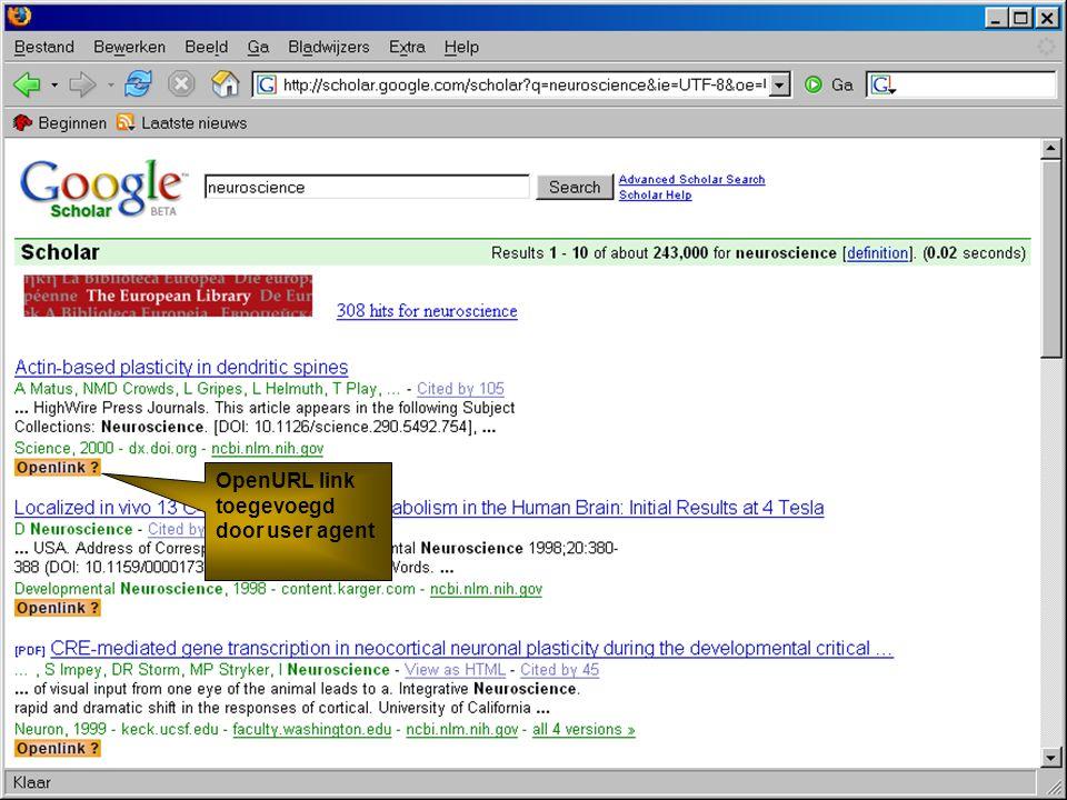 Koninklijke Bibliotheek – National Library of the Netherlands De KB en Web 2.0 OpenURL link toegevoegd door user agent