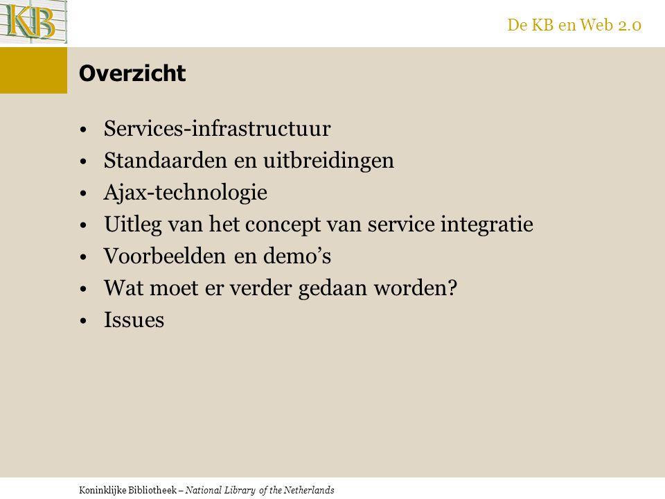Koninklijke Bibliotheek – National Library of the Netherlands De KB en Web 2.0 Ik wil dat mijn browser informatie in webpagina's herkent en mij de functionaliteit biedt die informatie te mengen met relevante informatie afkomstig van andere diensten.