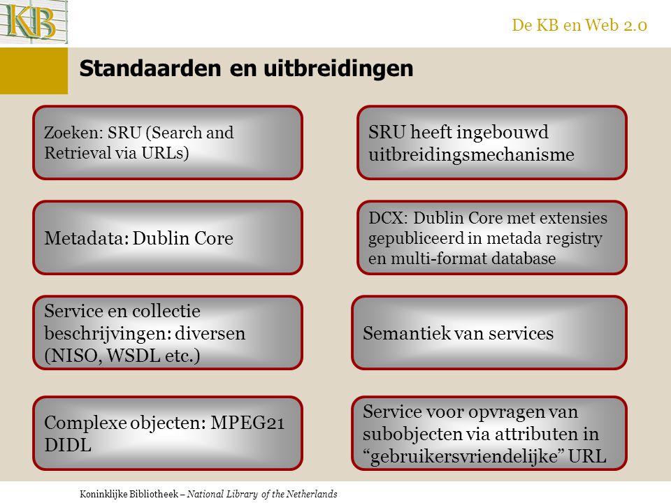 Koninklijke Bibliotheek – National Library of the Netherlands De KB en Web 2.0 XSLT en Javascript SRU Integratie in de browser.