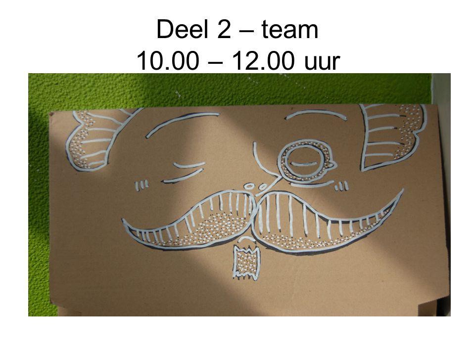 Deel 2 – team 10.00 – 12.00 uur