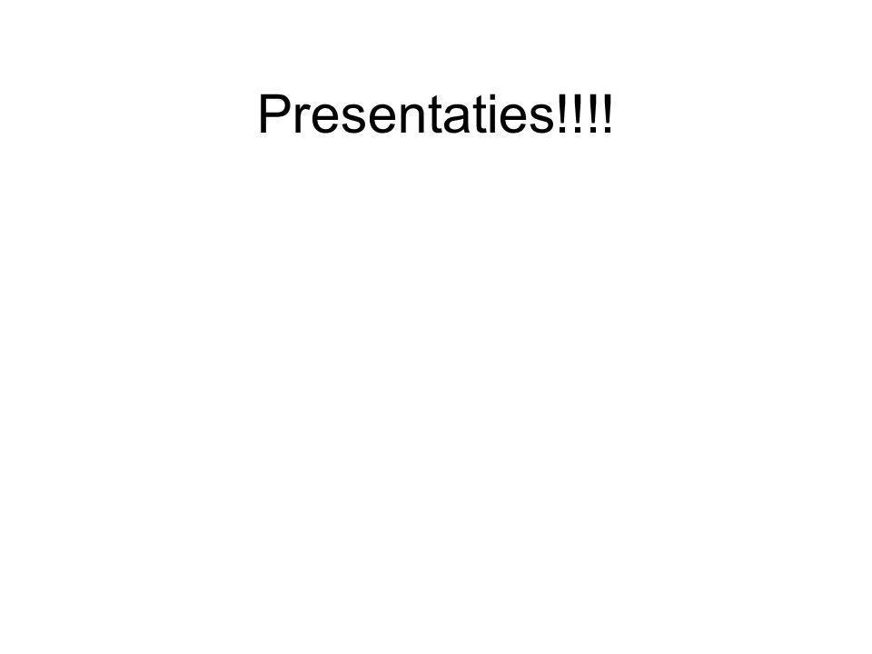 Presentaties!!!!