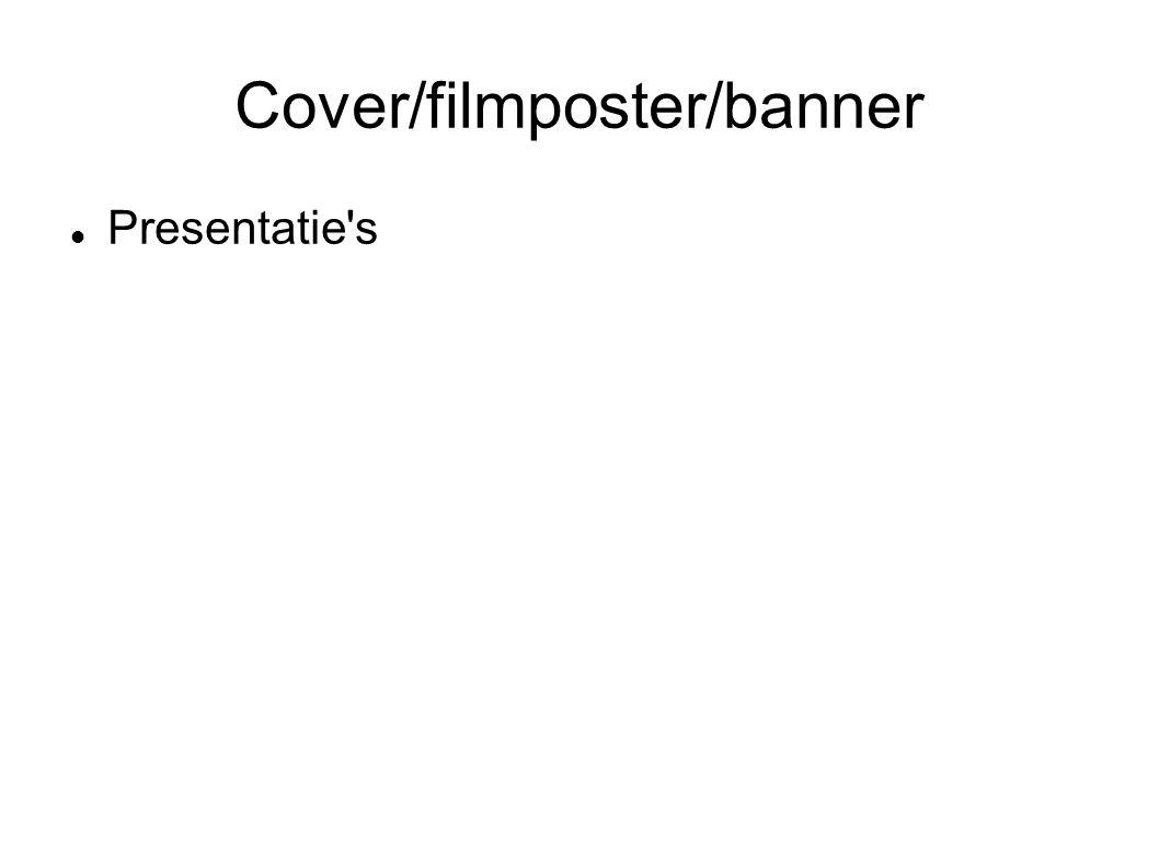 Cover/filmposter/banner Presentatie s