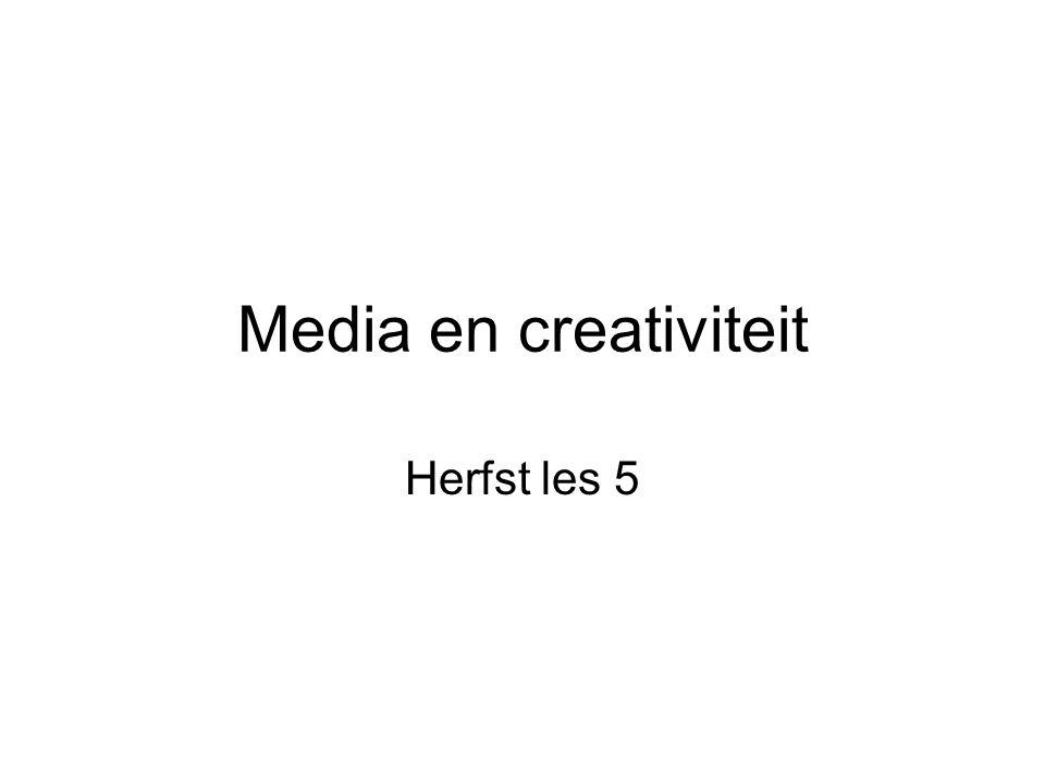 Media en creativiteit Herfst les 5