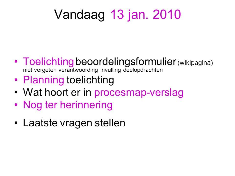 Planning Woensdag 20 januari presentatie (KORT, zorg dat alles startklaar staat) van films en blogs en uitleggen van de geprinte tijdschriften, ophangen van affiches en opleveren van ik-file en procesmap.