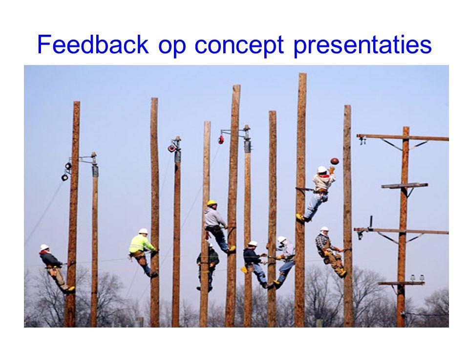 Feedback op concept presentaties