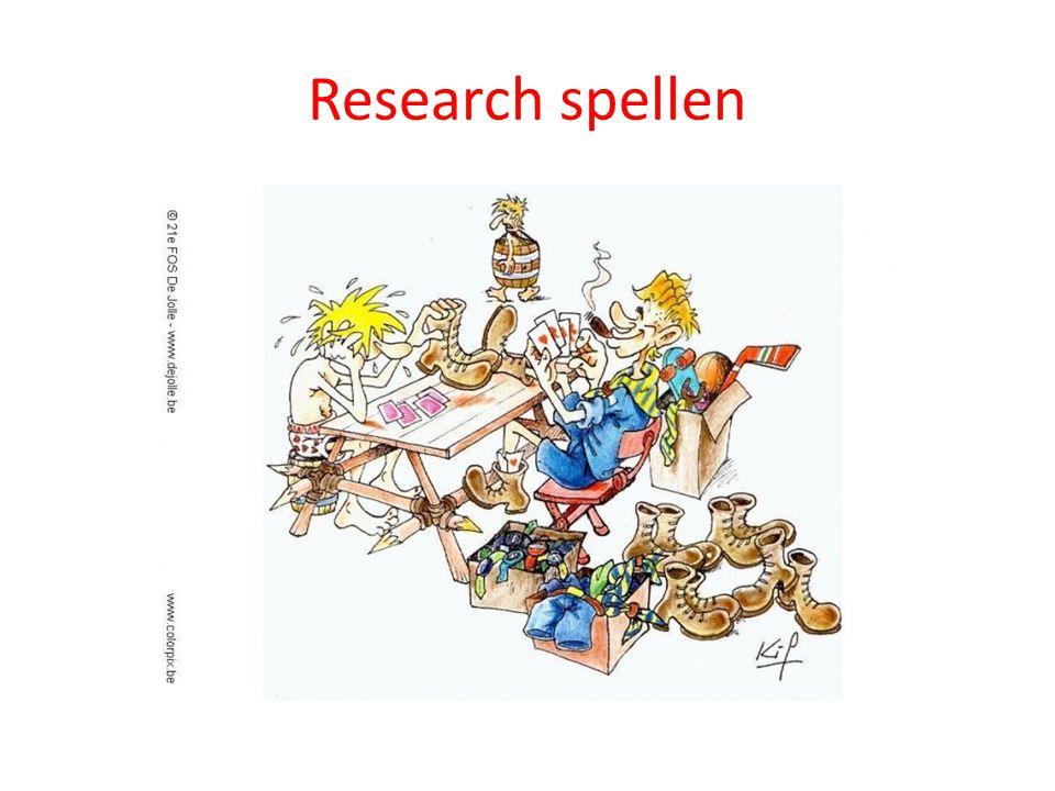 Research spellen