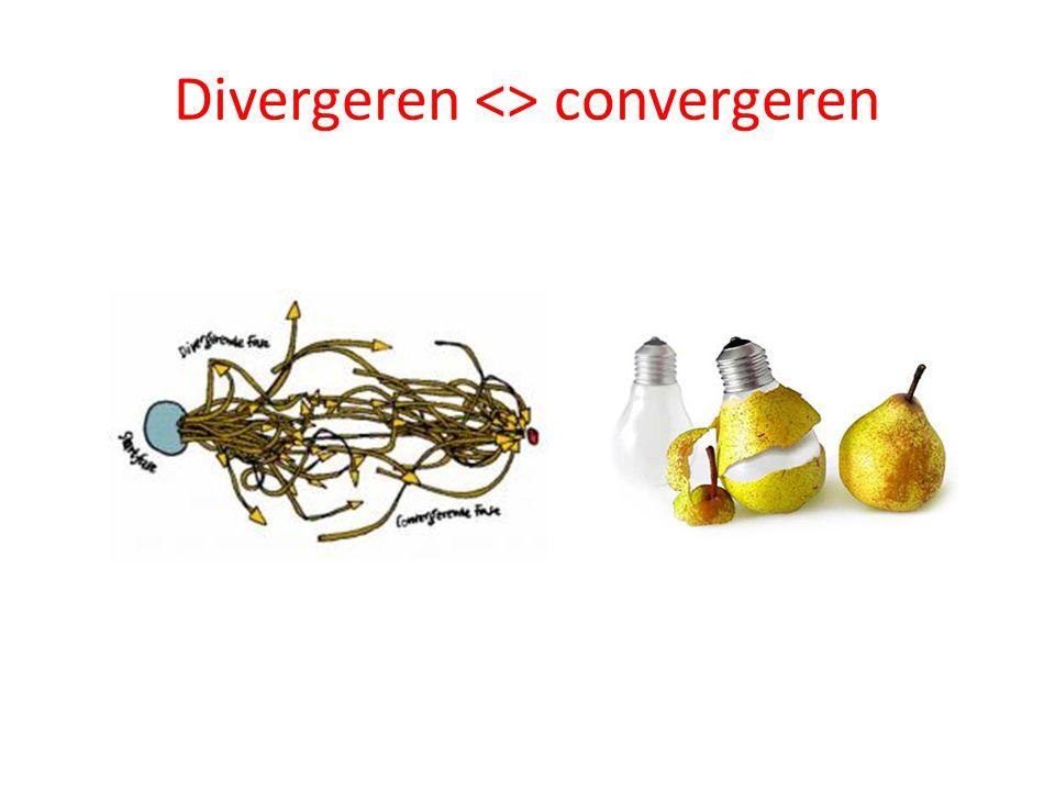 Divergeren <> convergeren