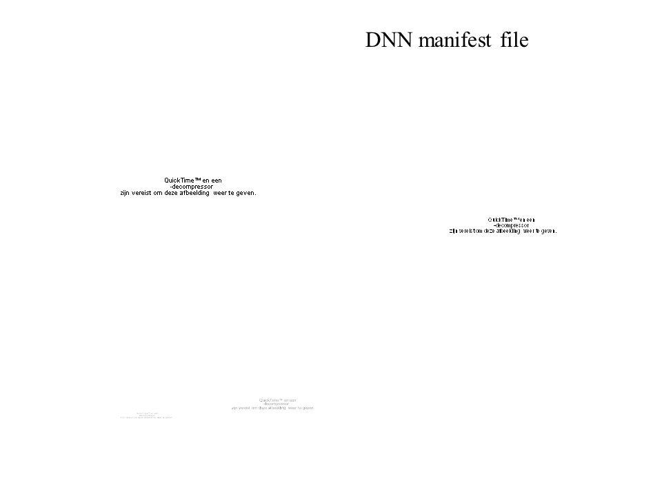 DNN manifest file