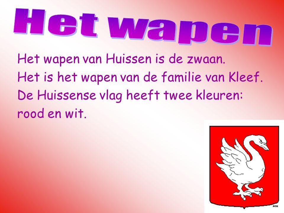 Het wapen van Huissen is de zwaan. Het is het wapen van de familie van Kleef. De Huissense vlag heeft twee kleuren: rood en wit.