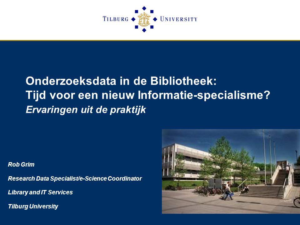 Onderzoeksdata in de Bibliotheek: Tijd voor een nieuw Informatie-specialisme.