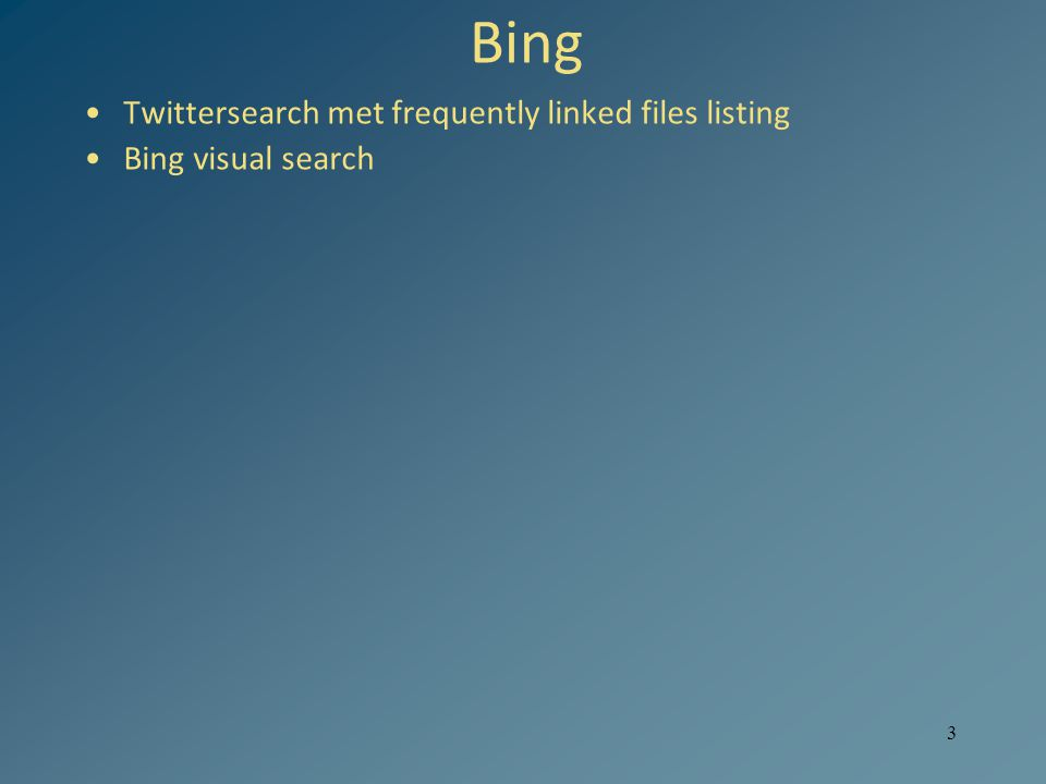 3 Bing Twittersearch met frequently linked files listing Bing visual search