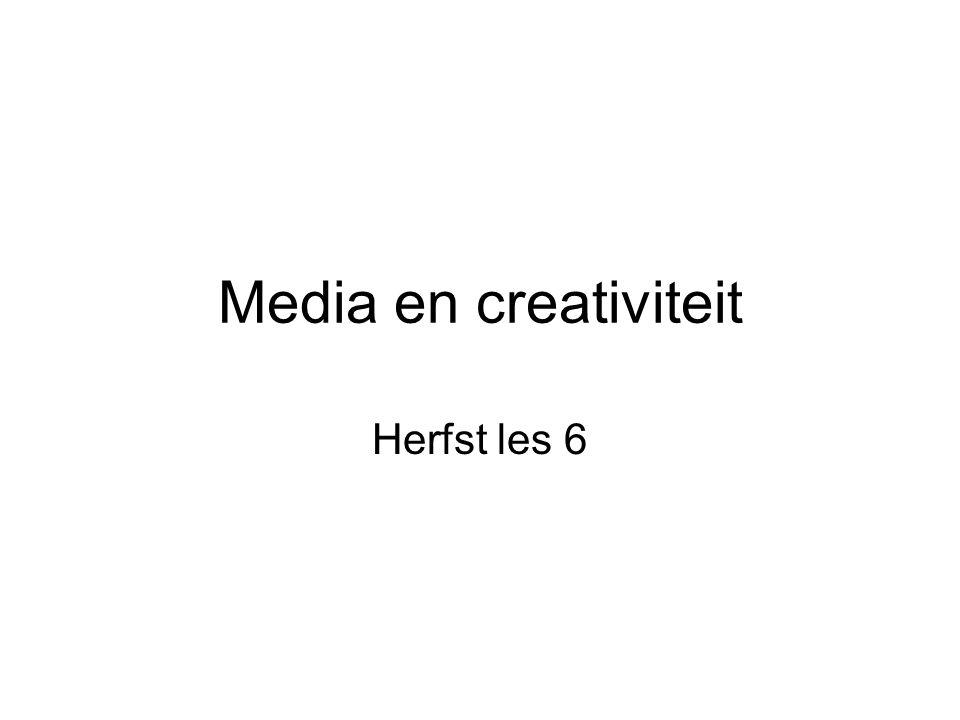 Media en creativiteit Herfst les 6