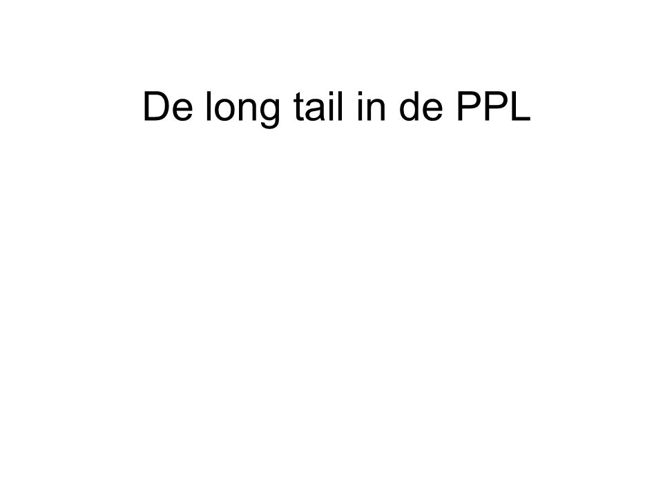 De long tail in de PPL