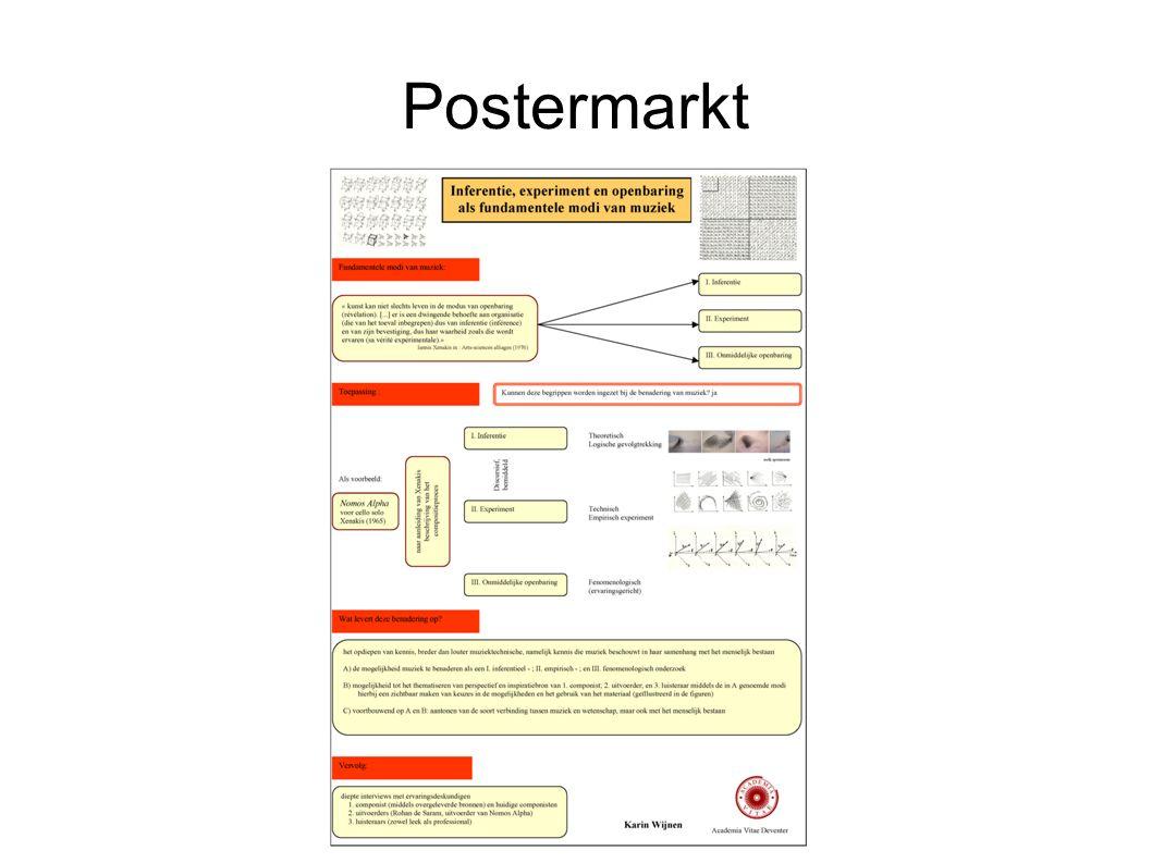 Volgende week Poster maakt gebruik van zwart/wit Poster wordt gepresenteerd op A0 formaat