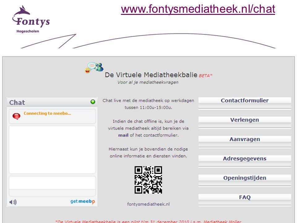 12 www.fontysmediatheek.nl/chat
