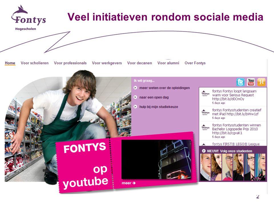 2 Veel initiatieven rondom sociale media