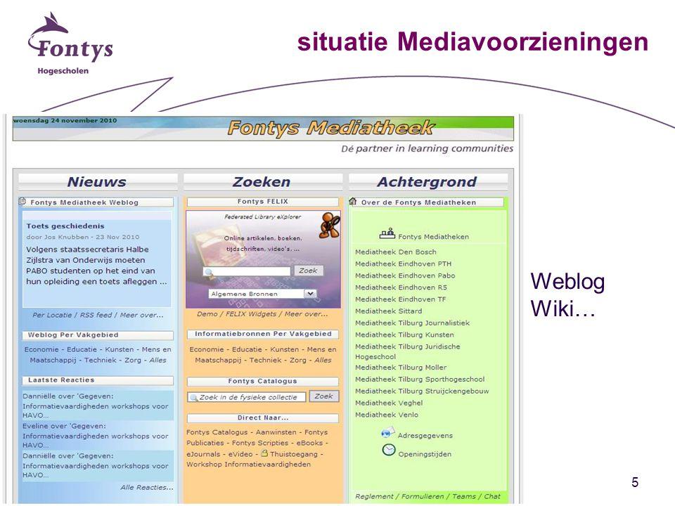 5 situatie Mediavoorzieningen Weblog Wiki…