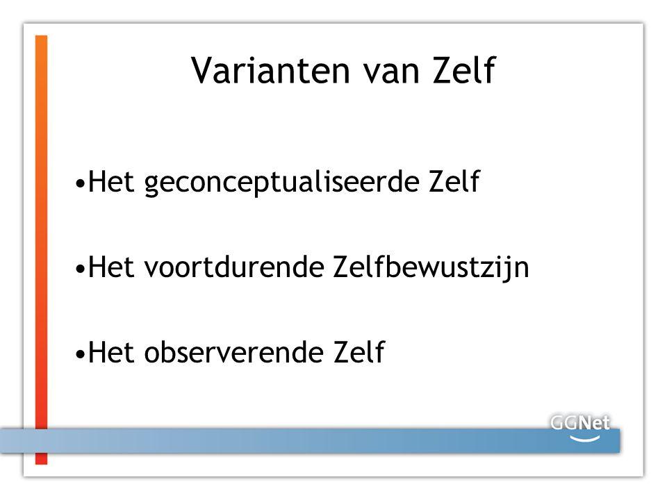 Varianten van Zelf Het geconceptualiseerde Zelf Het voortdurende Zelfbewustzijn Het observerende Zelf