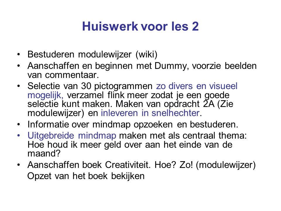 Huiswerk voor les 3 Maken en inleveren vooronderzoek 2B Verzamel zoveel en divers mogelijke voorbeelden van gebruiksaanwijzingen en beeldtaal.