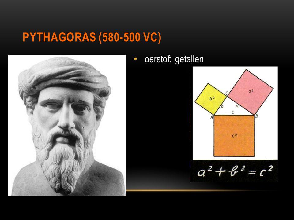 PYTHAGORAS (580-500 VC) oerstof: getallen