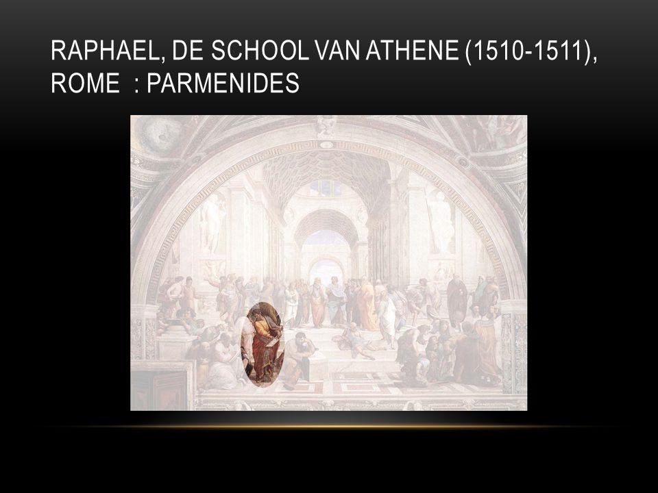 RAPHAEL, DE SCHOOL VAN ATHENE (1510-1511), ROME : PARMENIDES