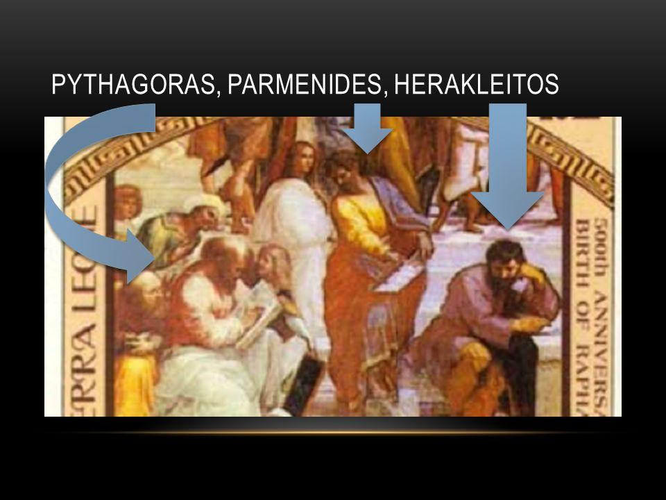 PYTHAGORAS, PARMENIDES, HERAKLEITOS