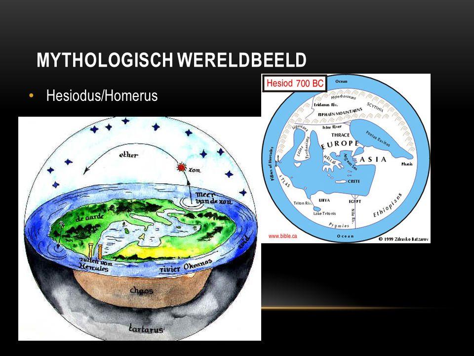 MYTHOLOGISCH WERELDBEELD Hesiodus/Homerus