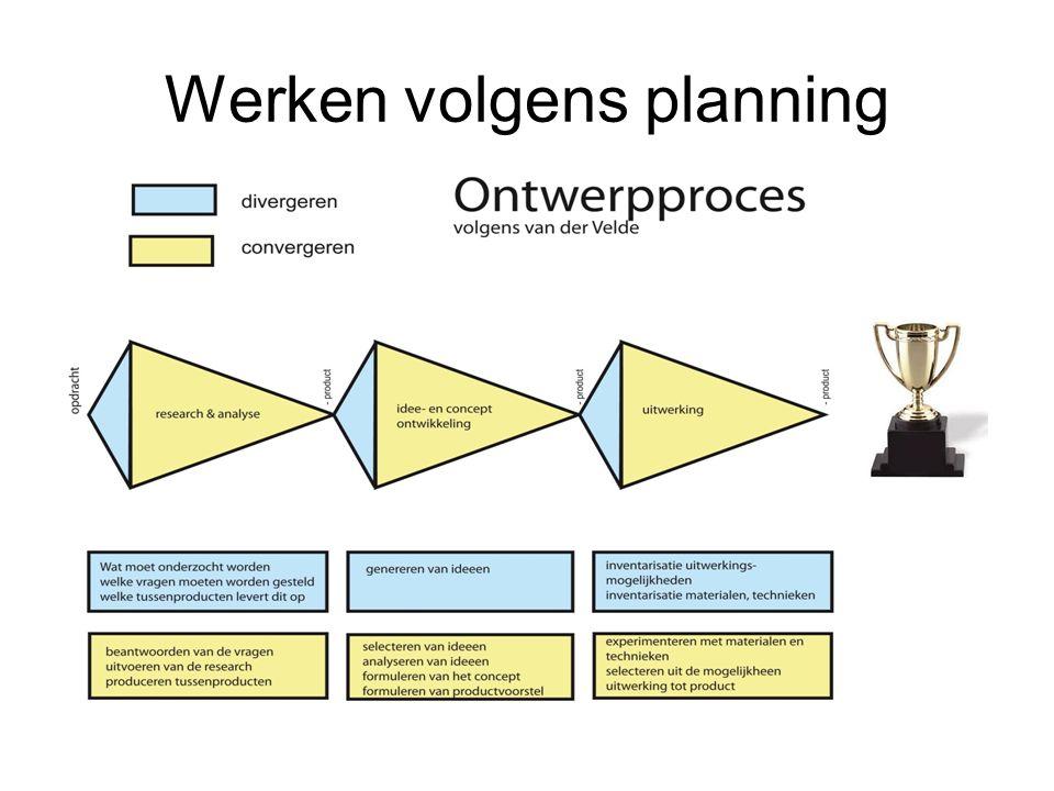 Werken volgens planning